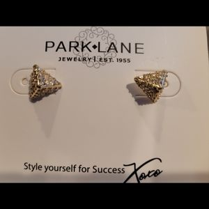 Park Lane triangle gold sparkly earrings
